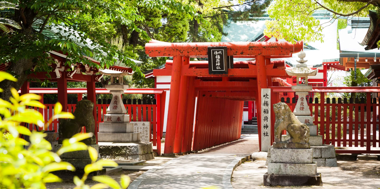 写真:吹揚稲荷神社の鳥居