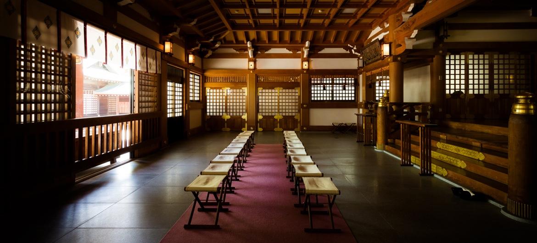 写真:吹揚神社内のご祈祷する場所